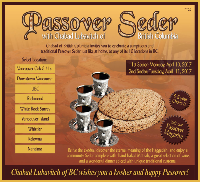 Passover with Lubavitch BC